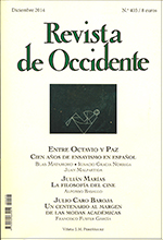Revista de Occidente. Diciembre 2014
